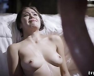 Stepfather fucks and covers his howling daughter Kendra Spade with cum!