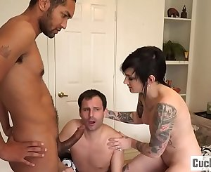Nikki turns her husband into a little cuckold bitch