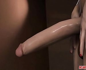 Hot 3D Elizabeth gets futanari shaft in her cunt