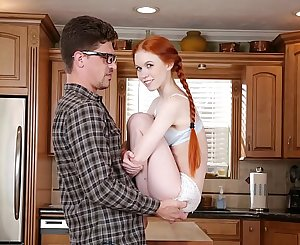 DON'T FUCK MY DAUGHTER - Petite Redhead Teenage Dolly Little Fucks Her Big Dick Tutor Bruce Venture