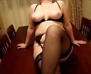 Unexperienced chubby mature teasing