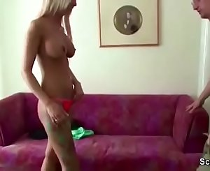Daddy Seduce Young German Teen with Big Tits to Fuck